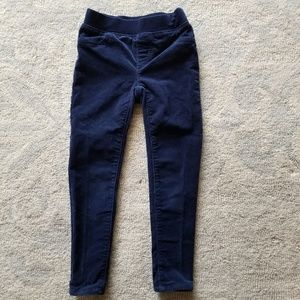 Girl's Sz 5 Land's End Navy Corduroy Jegging